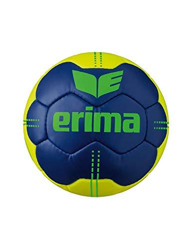 Erima Unisex Jugend Pure Grip No. 4 Handball, New Navy/gelb, 1