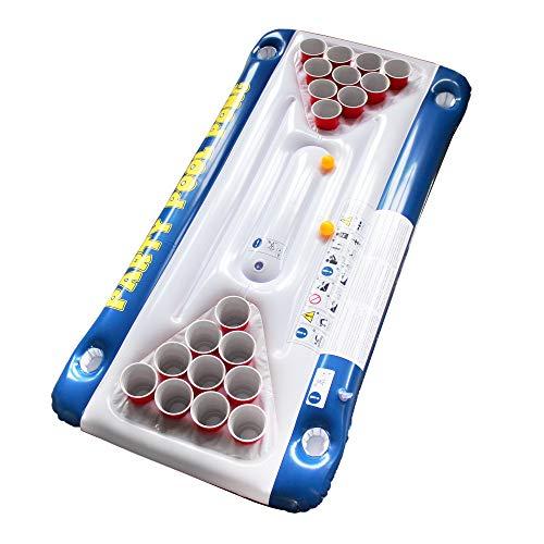 Monsterzeug Beer Pong Luftmatratze für den Pool, Schwimmender Bierpong Tisch, Beerpong Tisch zum Aufblasen, Pool-Zubehör