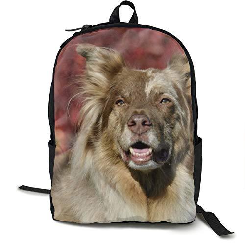 Unisex-Rucksack, klassisch, mit Gesichtsaugen, offener Mund, für Reisen, Camping, Outdoor, Laptop, Tagesrucksack