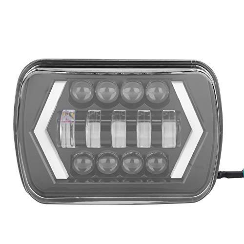 Faros Delanteros LED, Acouto 7'Faros Delanteros LED para Coche Halo DRL Bombillas de Lámpara Faros Cuadrados de Repuesto para Wrangler 1996-2017