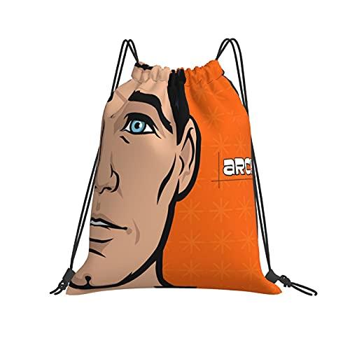 Archer Lying Gym Sack Bolsa de viaje deportiva repelente al agua, mochila ligera para hombres y mujeres