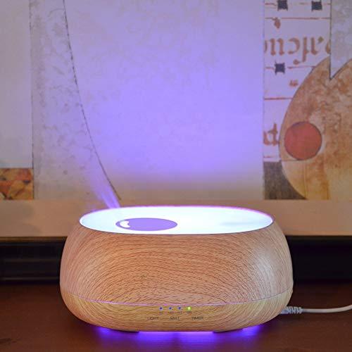 Difusor de Aroma de Aceite Esencial, luz Nocturna multifunción, Aroma difuso para humidificación de Habitaciones, Aire Fresco e iluminación, decoración(European Standard 220V~240V, Transl)