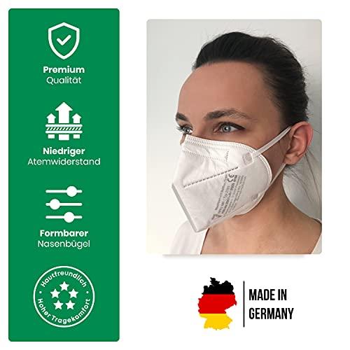 faciemF, 10 Stck. FFP2 Atemschutzmaske | Masken für Mund – und Nasenschutz | DEKRA (0158) geprüft |Made in Germany | sofort ab Lager lieferbar (10) - 2
