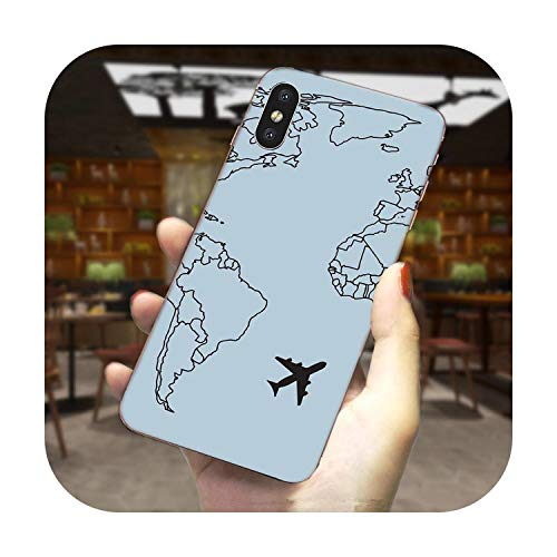 TPU Cool Best World Map Design for LG G2 G3 G4 G5 G6 G7 K4 K8 K10 K12 K40 Mini Plus Stylus ThinQ 2016 2017 2018 -como en la imagen2-para LG G5
