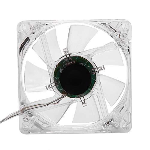 Shanrya Ventilador de refrigeración de CPU, Ventilador de refrigeración de CPU LED Transparente de 8 CM, hogar práctico y práctico para la Oficina de la computadora de Escritorio