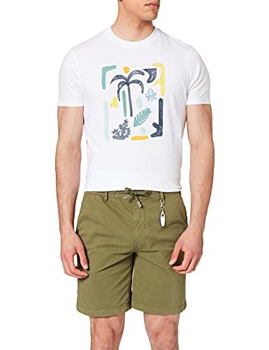 Springfield Bermuda Beach Gomas Llavero Pantalones Cortos, Kaki Oscuro, L para Hombre