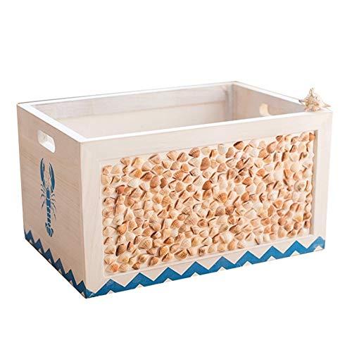 AJMINI - Caja de almacenamiento para mantas de estilo mediterráneo, cestas de almacenamiento para cuarto de baño, organizador para guardería, sala de estar, lavandería, perfecto para decoración de juguetes