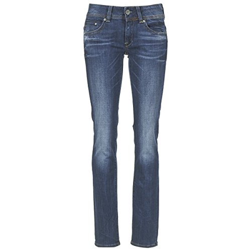 G-STAR RAW Damen Midge Saddle Mid Waist Straight Jeans, Medium Aged 8464-071, 26W / 32L