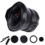 TTartisan 7.5mm F2.0 APS-C Sony e Mount Camera Lens Mirrorless Fisheye Lens Wide-Angle View Lens for Sony a7iii a6400、a6000、a6100、a6600、a5100、a6500、a6300