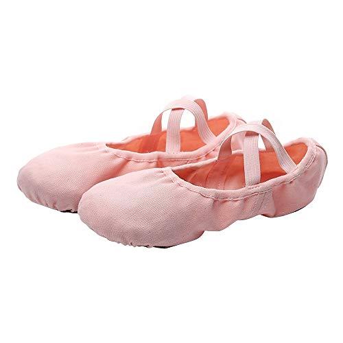 Zapatos de ballet, Los niños Zapatos de baile de algodón elástico de tela de la danza de la práctica de los zapatos de suela suave completa