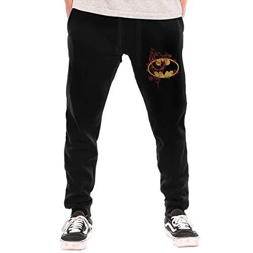 Batman Logo Joker Graffiti DC Comics Man's Sweatpants Pants Casual Jogger Sweatpants Basic Jogger Pant Elastic Waist L Black