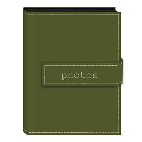 Pioneer Photo Albums EXP-57/SGP 36-Pocket 5 by 7-Inch Embroidered 'Photos' Strap Sewn Leatherette Cover Photo Album, Mini, Sage Green