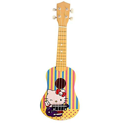 ZGUkulele- 21 pulgadas de dibujos animados ukelele ukelele pequeña guitarra tochigi mini principiante instrumento pequeño cuatro cuerdas