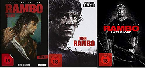 Rambo 1-5 / Teil 1+2+3+4+5 First Blood bis Last Blood [DVD Set]