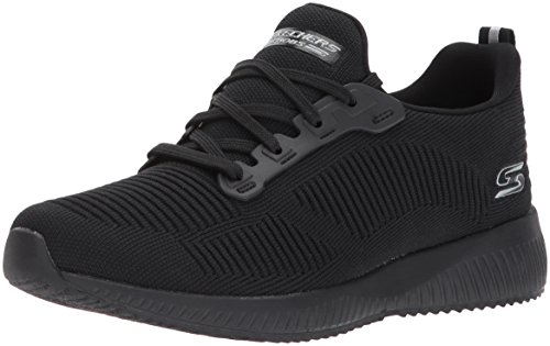 Skechers Women Bobs Squad-Photo Frame Slip on Trainers, Black (Black), 5 UK (38 EU)