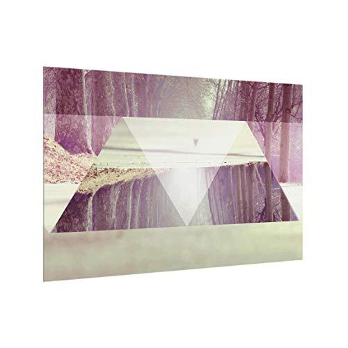 Crédence en Verre âtre - Geometry Meets Forest Path - Paysage 40 x 60 cm