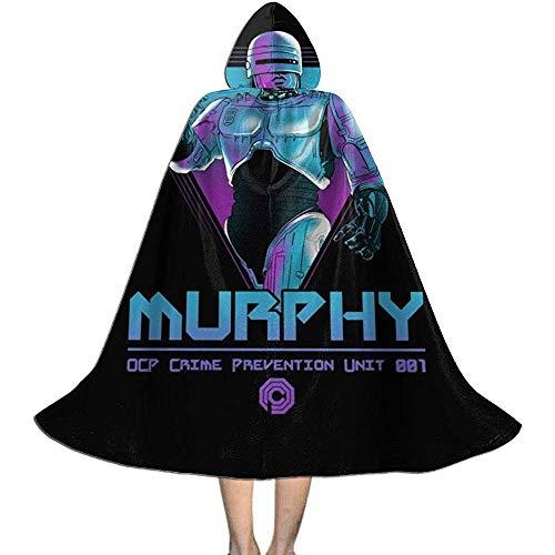 Not Applicable Disfraz De Mago,Murphy OCP Crime Unit Robocop Capas De Brujas Personalizadas con Sombrero para Fiesta De Disfraces 88cm