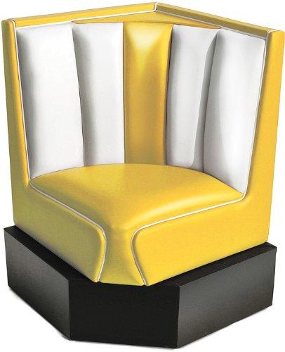 Bel Air Banco esquinero para cena (amarillo/blanco)