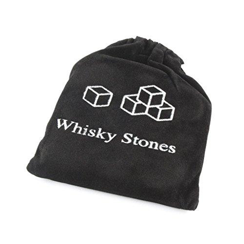 ERGEOB® 9er Set Whisky-Steine aus natürlichem Speckstein- Kühlsteine mit praktischen Stoffbeutel - 4