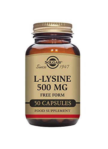 Solgar L-Lysine 500 mg Vegetable Capsules - Pack of 50