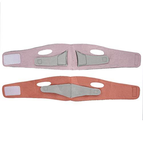 Masque de levage de visage mince ceinture soins de la santé visage amincissant la ceinture faciale visage shaper bandage (Color : Orange+Gray)