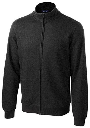 Sport-Tek Men's Full Zip Sweatshirt,X-Large,Graphite Hthr