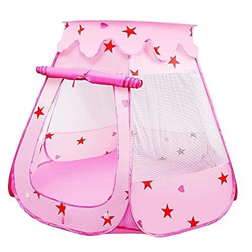 Kinderen spelen tent, pop-up prinses kinderen ballenbak zwembad tenthuis voor kinderen binnen en buiten gebruik