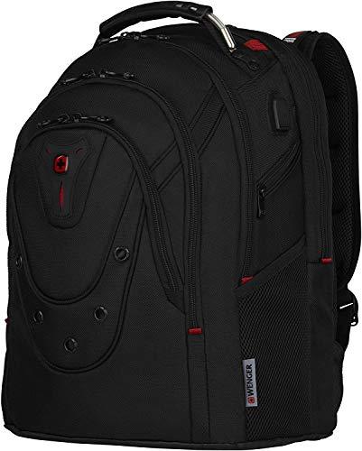 Wenger Ibex Deluxe Laptop-Rucksack, Notebook 14 bis 16 Zoll, Tablet bis 10 Zoll, 26 l, Damen Herren, Business Uni Schule Reisen, Schwarz