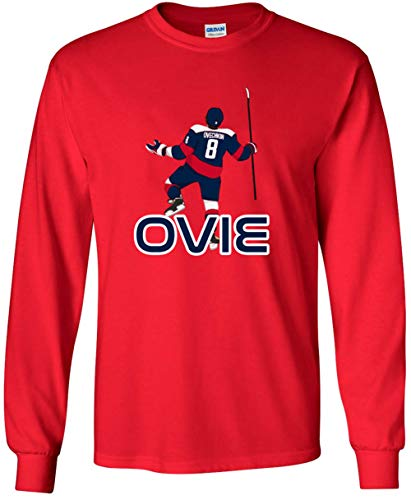 Long Sleeve RED Washington Ovechkin Ovie Pic T-Shirt Youth