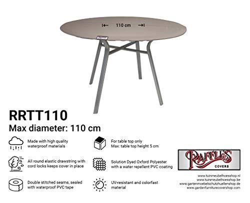 Raffles Covers NW-RRTT110 afdekzeil voor een rond tafelblad Ø 110 cm tuintafel tafelbladen afdekking, tafelbladhoes