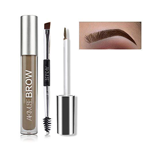 FOXCESD Eyebrow Gel Waterproof, 24 Hours Long Lasting for Eyebrow Makeup (Brunette)