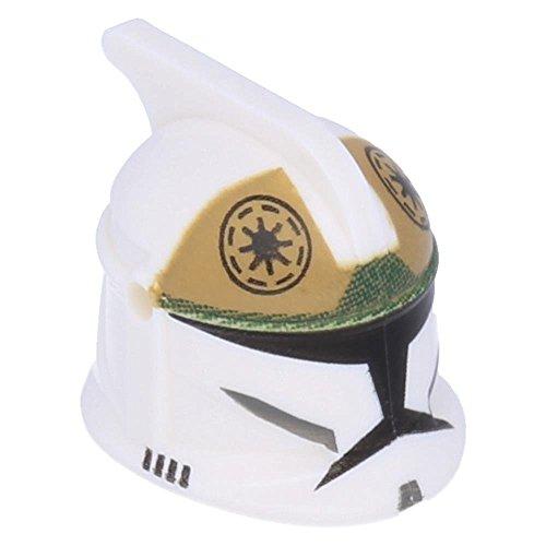 LEGO Star Wars - Minifiguren Kopfbedeckung Helm SW Klon-Soldat mit Löchern, Weiß