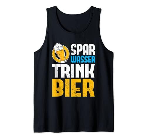 Spar Wasser Trink Bier | Biergarten Alkohol Party Bier Tank Top