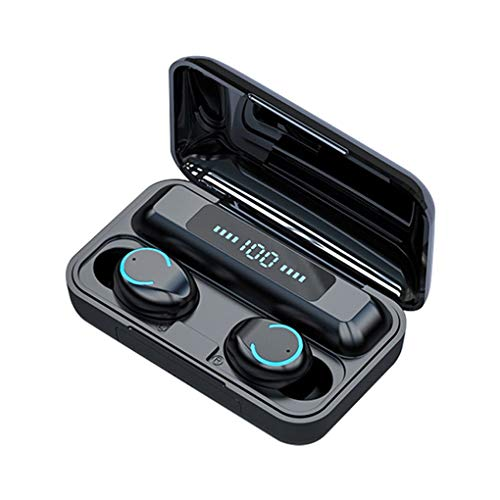 worahroe F9-9 LED Pantalla Touch TWS Auriculares inalámbricos Bluetooth a Prueba 5.0 Earbudos estéreo a Prueba de Agua