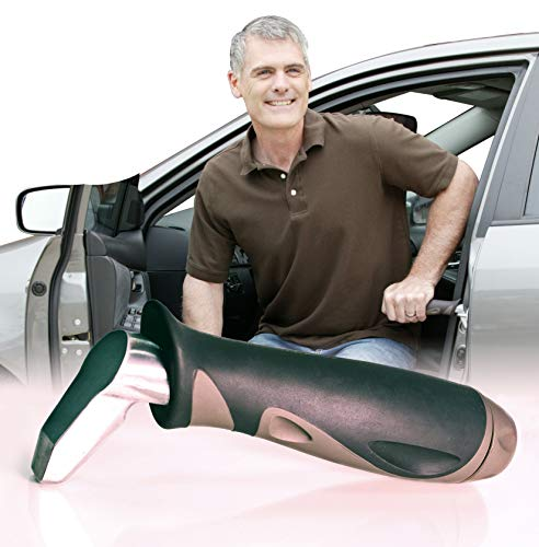 Stander Metro Car Handle Plus, Portable Vehicle Support Grab Bar, Standing Assist Mobility Aid, Includes LED Flashlight