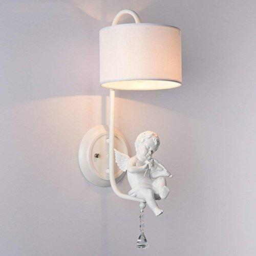 DSJ engel wandlampen, moderne, eenvoudige creatieve woonkamerverlichting, gang slaapkamer, bedlampje, stof wandlamp
