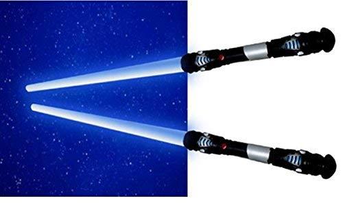 TE-Trend 2X Espada Láser Sable de Luz Sonido Luz Vibración 108CM Azul Verde Rojo, Color : Azul; Color Sable de Luz: Azul