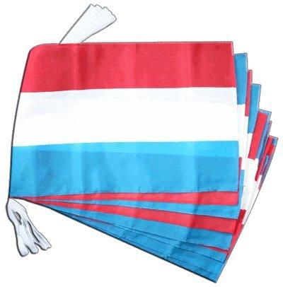 Fahnenkette Flaggen Luxemburg 30x45cm, Länge 9 m