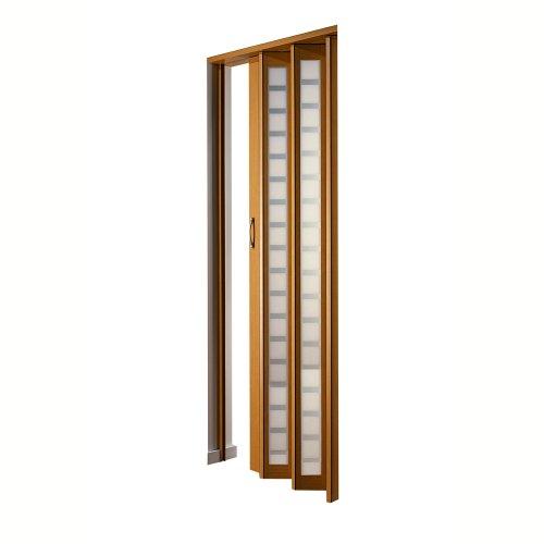 LTL Home Products HSMETRO3280BESQ Spectrum Metro Frosted Square Plexiglas Accordion Folding Door, 36 x 80 Inches, Beech