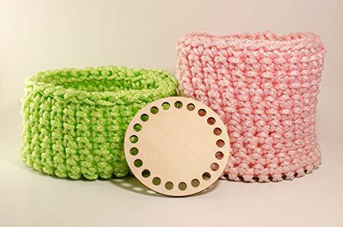 Multiplex Basis voor gehaakte mand, ronde vorm, houten bodem voor breien 10cm, 15cm,17 cm (15cm x 5)