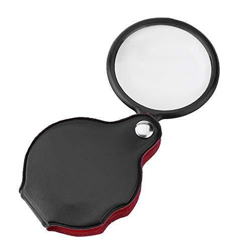 Focket Mini-Lupe, 8X Faltbare tragbare Tasche Schmuck Lupe Lupe Lupe mit Tasche für Schmuck- und Schönheitsanwendungen