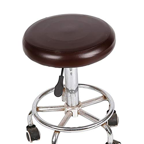 YTYZD 2ST Elastische PU-leder-ronde kruk stoelafdekking waterdichte stoel bescherming bar schoonheidssalon kleine ronde zitkussen sleeve barkruk kussen
