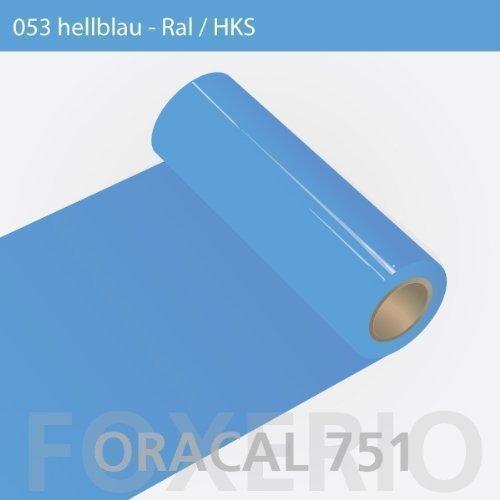 Orafol - Oracal 751 - 31cm Rolle - 5m (Laufmeter) - Hellblau / hochglänzend, A77oracal - 751 - 31cm - 05 - kl - Autofolie / Möbelfolie / Küchenfolie