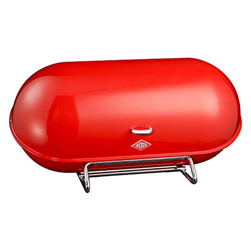 WESCO Breadboy – Steel Bread Box for Kitchen/Storage Container, Red
