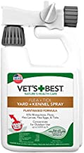 Vet's Best Flea and Tick Yard and Kennel Spray   Yard Treatment Spray Kills Mosquitoes, Fleas, and Ticks with Certified Natural Oils   32 Ounces