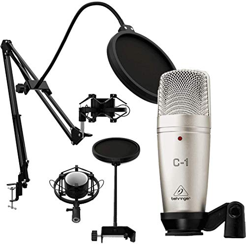 Behringer C1 Micrófono de Studio + Pack Podcast Estudio. Soporte...