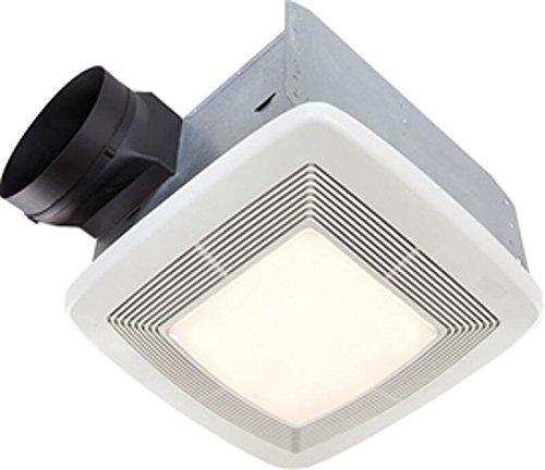 Broan-Nutone QTXE150FLT Ultra-Silent Ventilation Fan with Light, Quiet Exhaust Fan for Bathroom and Home, ENERGY STAR Certified, 36-Watt Fluorescent Light, 4-