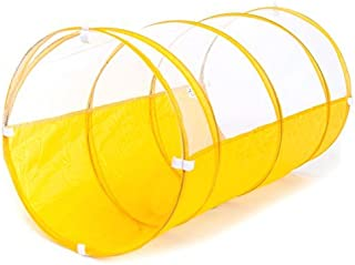eWonderWorld 3.25' Sunshine Yellow Kid'S Pop-Up Play Tunnel with Carrying Bag – Children'S Tunnel, Play Tube, Crawl Tunnel for Toddlers, Toy Tunnel
