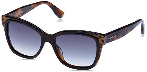 Jimmy Choo Damen BEBI/S 9C PUU 53 Sonnenbrille, Braun (Animalier Hv/Dark Grey Sf)