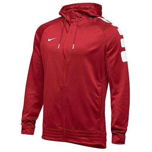 Nike Men's Elite Stripe Zip Up Hoodie Red 835379 658 Size XL